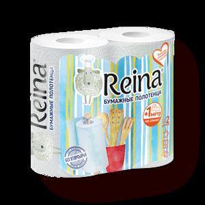 Фото Полотенца бумажные Reina белые 2 слоя
